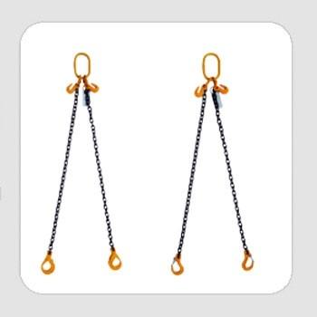 Two Leg Adjustable Chain Slings - Clevis Self-Lock Hook